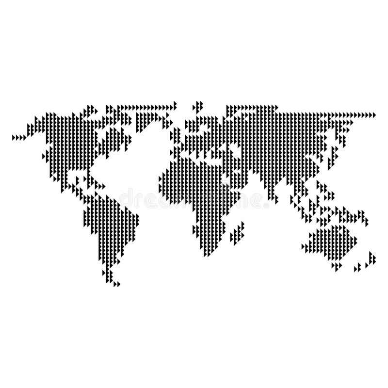 Dotted world map vector stock illustration