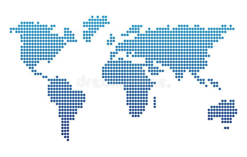 Dotted World Map Vector Illustration Design. Earth Globe royalty free illustration
