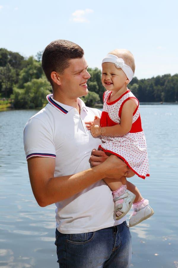 dotterfader hans barn royaltyfri foto