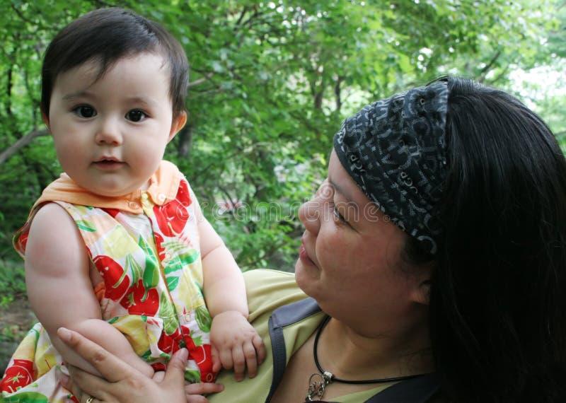 dottermoder arkivfoto