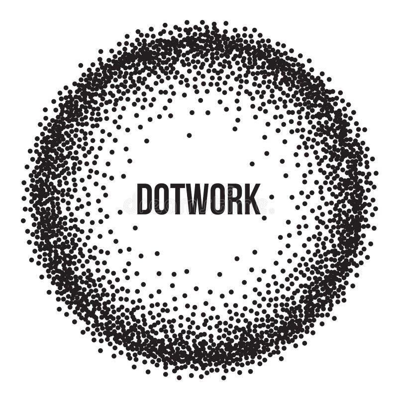 Dotwork Ring Vetora Banner ilustração stock