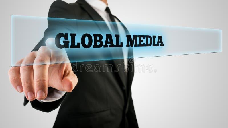 Dotykać Globalnego środka guzika zdjęcie royalty free