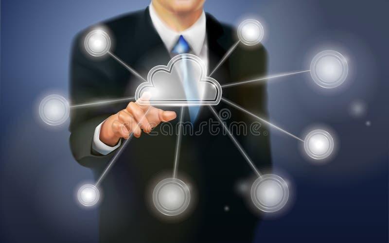 Dotyka ekranu technologia ilustracji