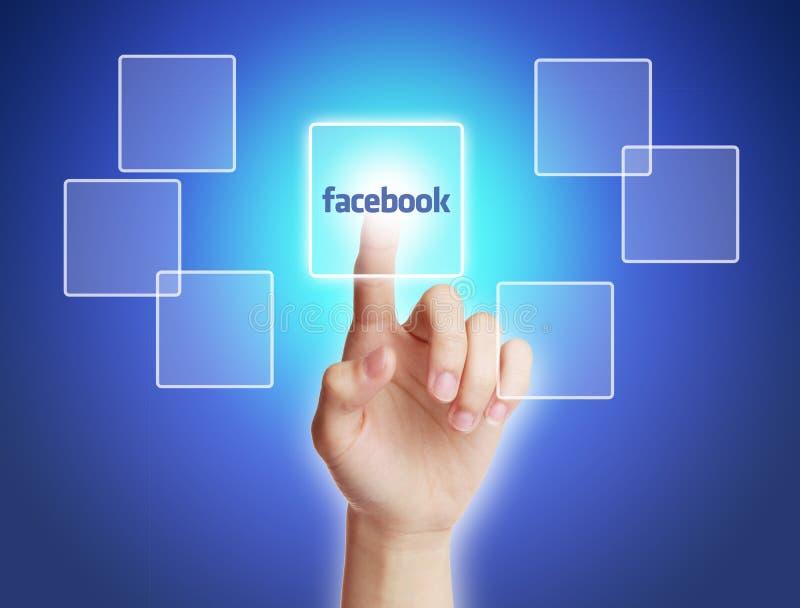 Dotyka Facebook guzik ilustracja wektor