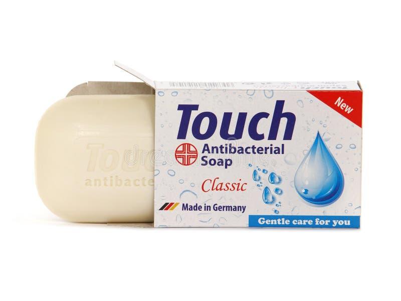 Dotyka klasyk, Antibacterial prętowy mydło zdjęcie stock