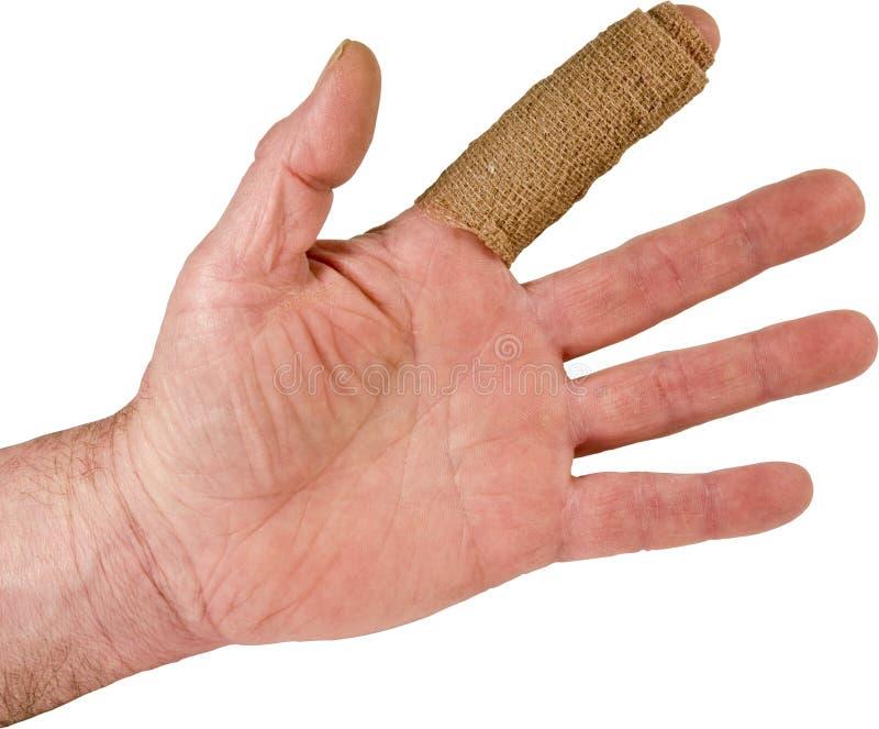 dotyka ręki wskaźnika uraz odizolowywającego zdjęcie royalty free