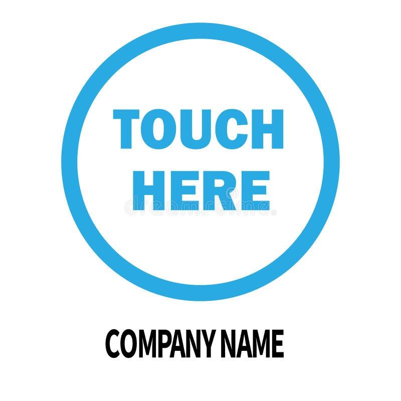 Dotyka tutaj firmy loga projekta szablon biznesowa korporacyjna ikona ilustracja wektor