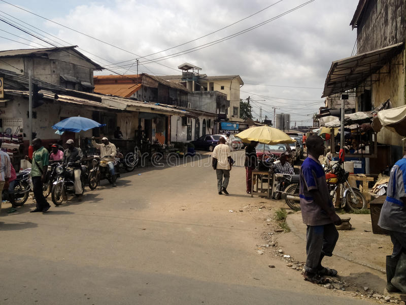 Douala, Kamerun stockbild