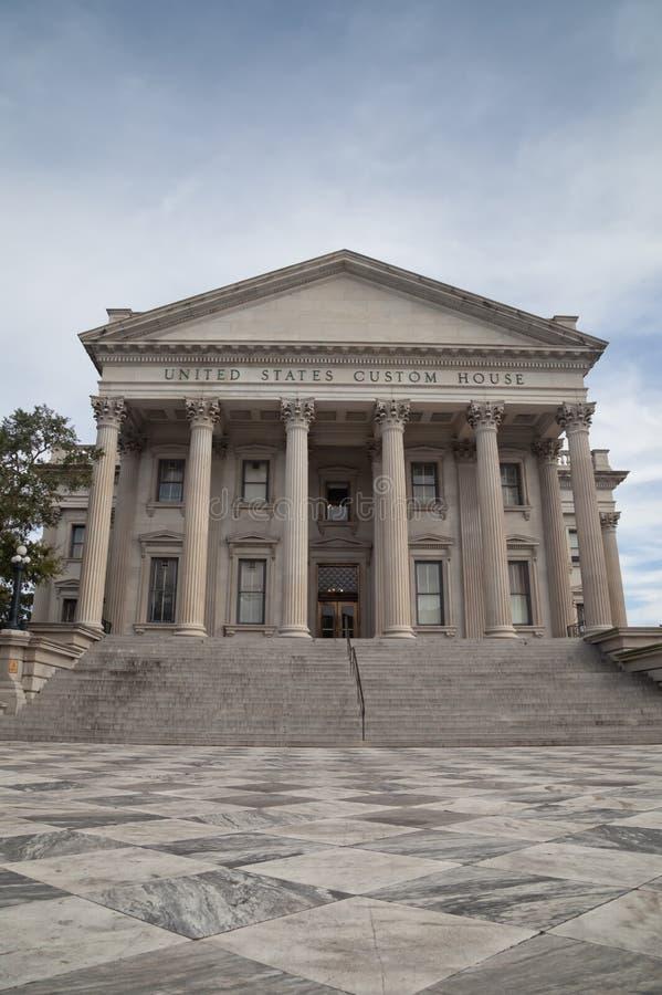 Douanekantoor van Verenigde Staten, Charleston, Zuid-Carolina stock afbeelding