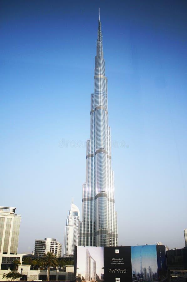 doubai Burj Khalifa Het langste gebouw in de wereld stock foto