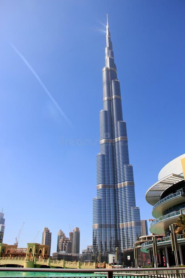 Doubai die - de Wolkenkrabber van Burji Khalifa Highest leven stock foto
