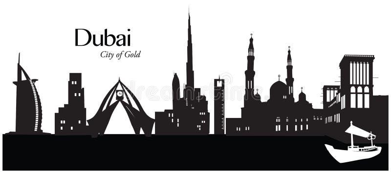 Doubai, Verenigde Arabische Emiraten royalty-vrije illustratie