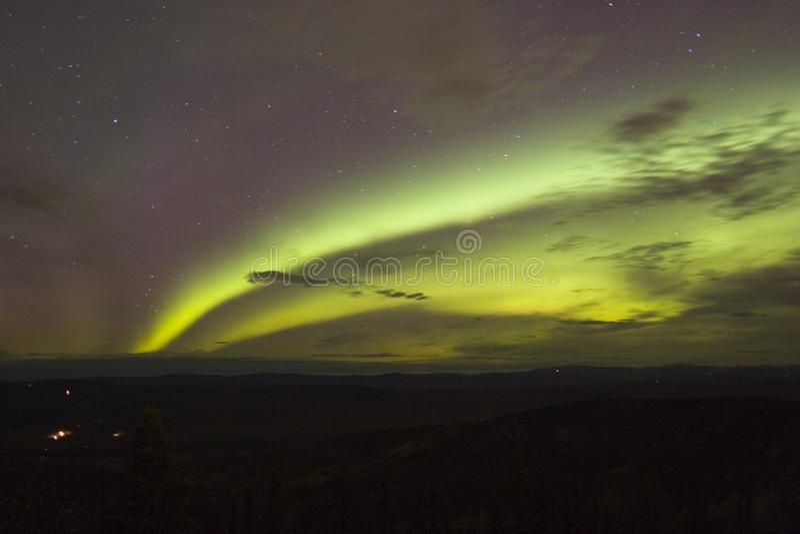 Double arc de lumières du nord photographie stock libre de droits