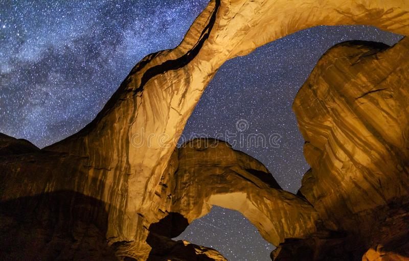 Double Arch Milky Way royalty free stock image