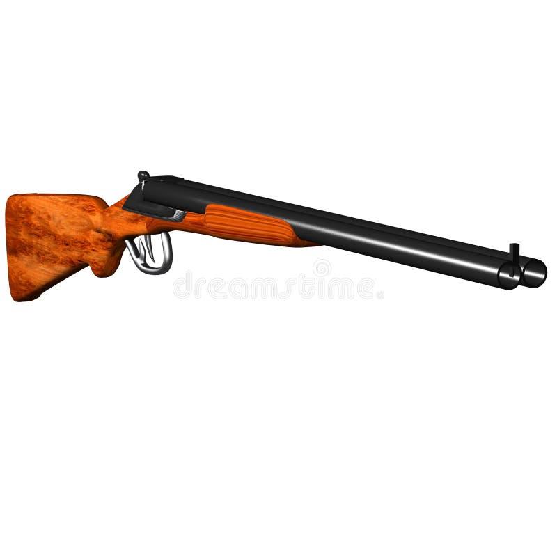 Download Double Barrel Shotgun stock illustration. Image of weapon - 11907899