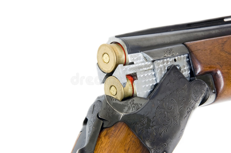 Double barrel shotgun cal 12 royalty free stock images
