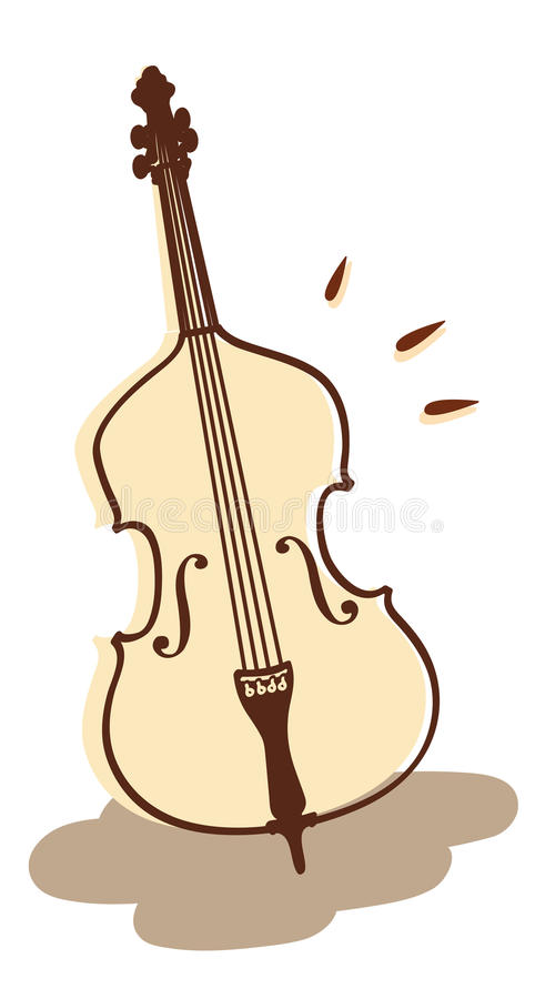 Double bass vector royalty free illustration