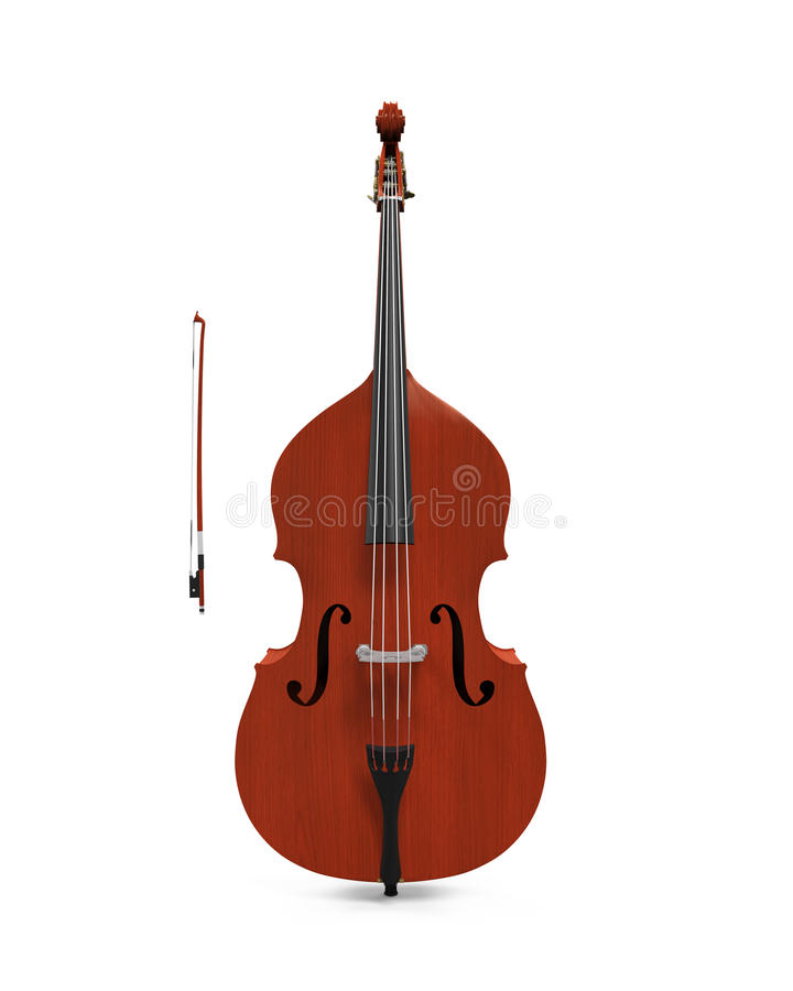 Double Bass Isolated royalty free stock images