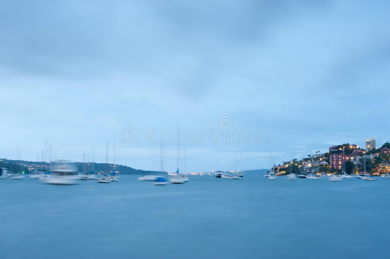 Double Bay, Sydney, Australia. This image shows Double Bay at night, Sydney, Australia royalty free stock photos