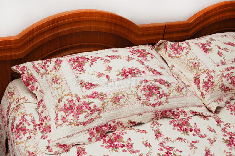 Download Double bed stock photo. Image of counterpane, head, bedclothes - 18272208
