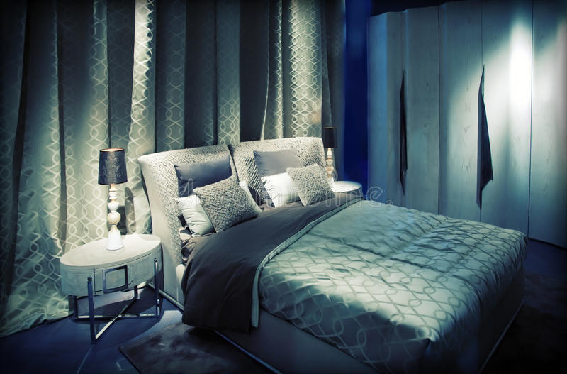Download Double bed stock image. Image of background, home, domestic - 26597611