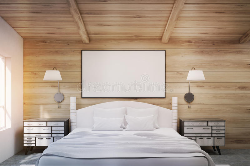 Download Double Bed With Bedside Tables, Toned Stock Illustration - Image: 83722237