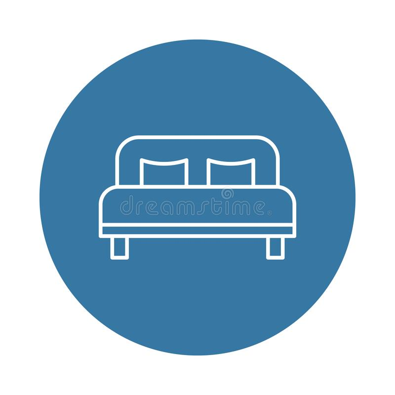 double bed icon. Element of hotel icons for mobile concept and web apps. Badge style double bed icon can be used for web and mobil royalty free illustration