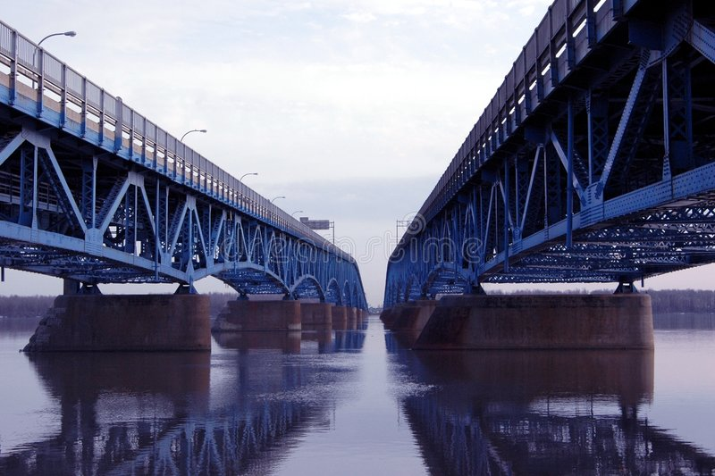 Download Double Bridge stock photo. Image of expansive, reflections - 113384