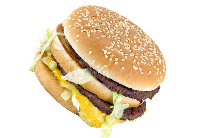 Double burger stock image