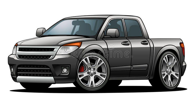 Double Cab 01. A non-branded generic Double Cab from the early 2010s models vector illustration