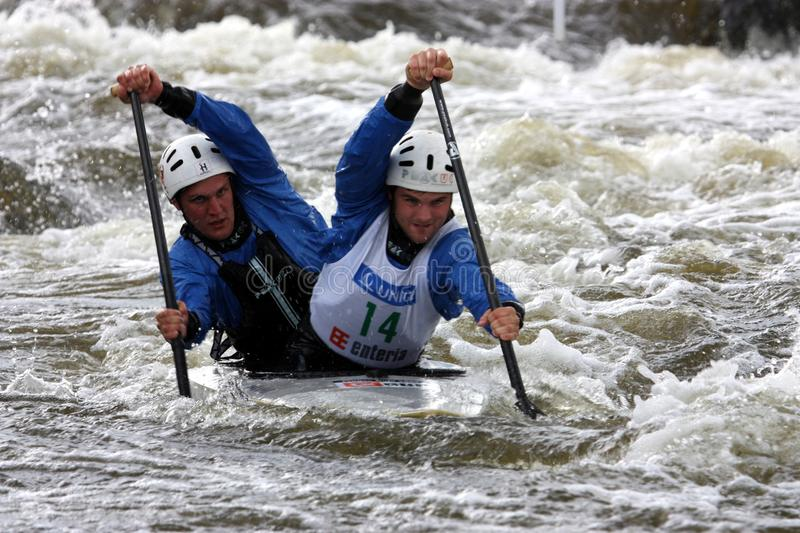 Download Double Canoe Slalom Competition Editorial Image