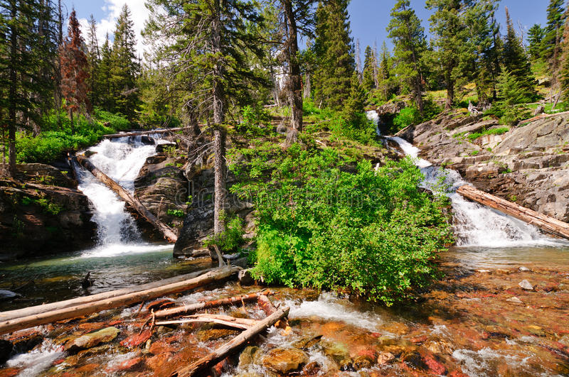 Download Double Cascades In The Americna Wesy Stock Photo - Image: 26835418