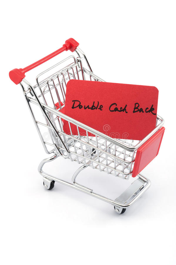 Double cash back stock photos