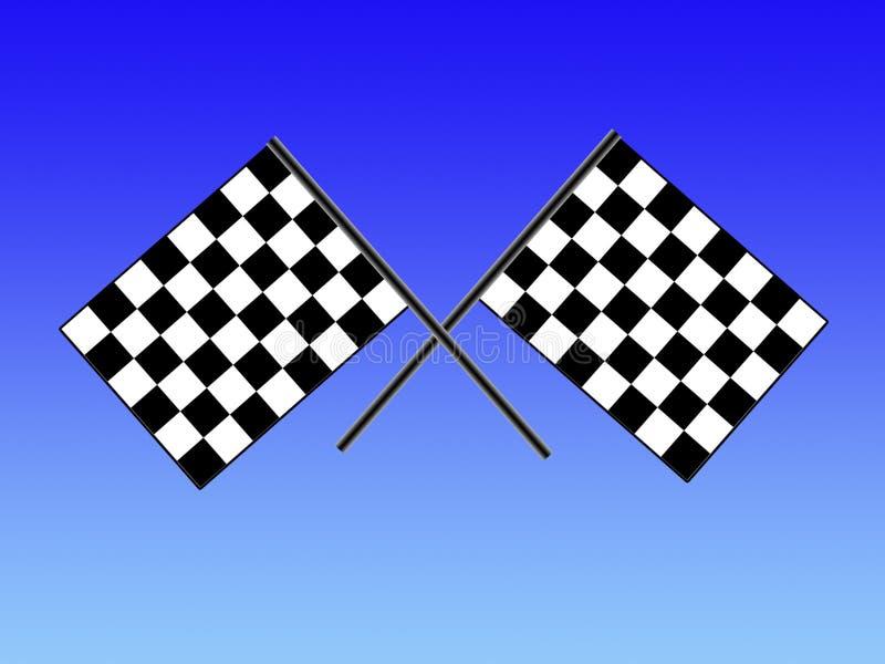 Double checkered flag royalty free stock photo