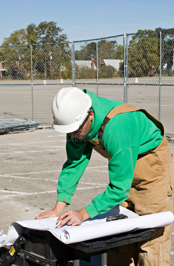 Download Double-checking Blueprints stock photo. Image of construction - 7792816