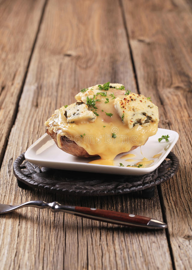 Download Double Cheese Twice Baked Potato Stock Image - Image: 27990255