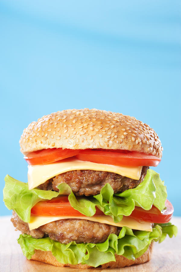 Free Double Cheeseburger Royalty Free Stock Images - 18705109