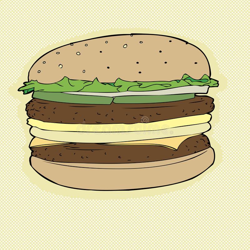 Free Double Cheeseburger Stock Photo - 40301680