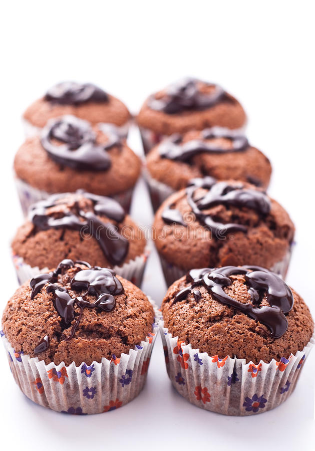 Download Double chocolate muffins stock photo. Image of celebrating - 16187734