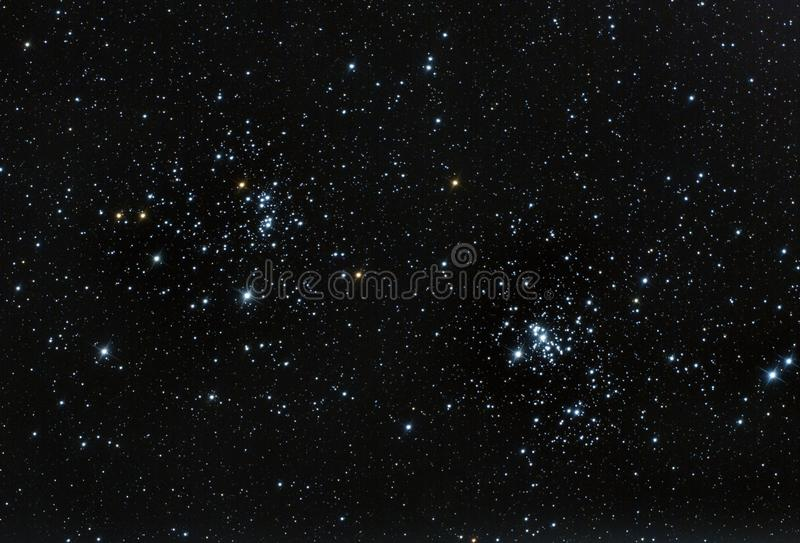 Double cluster royalty free stock image