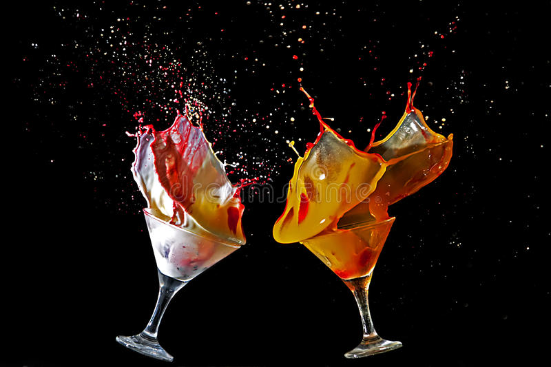 Double cocktail image stock