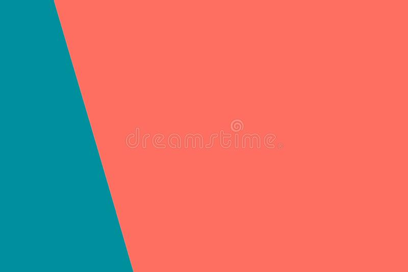 Double color blue and pink modern flat lay backgound . Living coral theme - color of the year 2019. Double color blue and pink modern flat lay backgound. Top royalty free stock photography