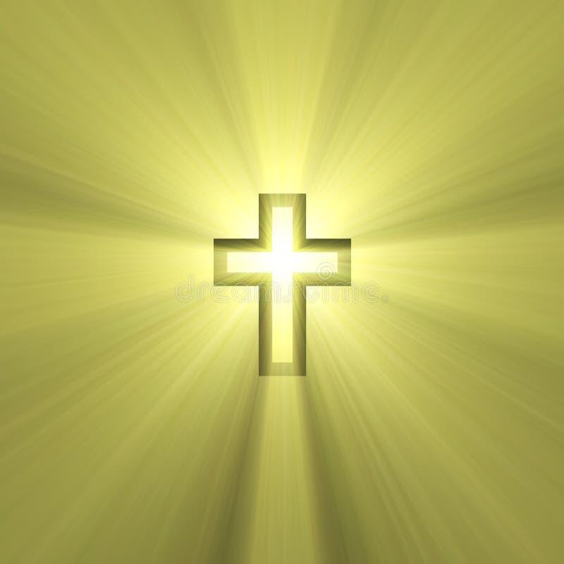 Double croix avec l'épanouissement léger illustration libre de droits