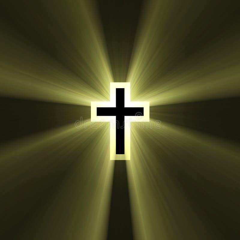 Double croix avec les épanouissements légers illustration libre de droits