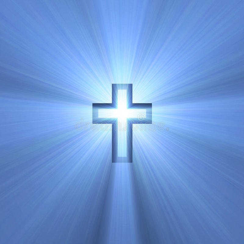 Free Double Cross Symbol Blue Light Flare Stock Photo - 3005140