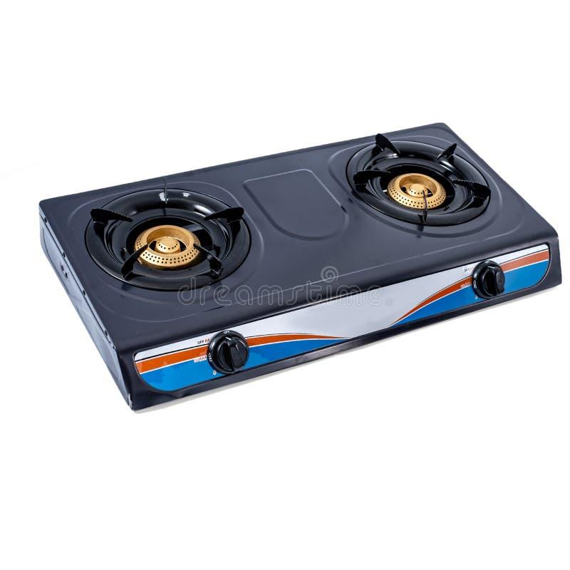 Double cuiseur de gaz de brûleur photographie stock libre de droits