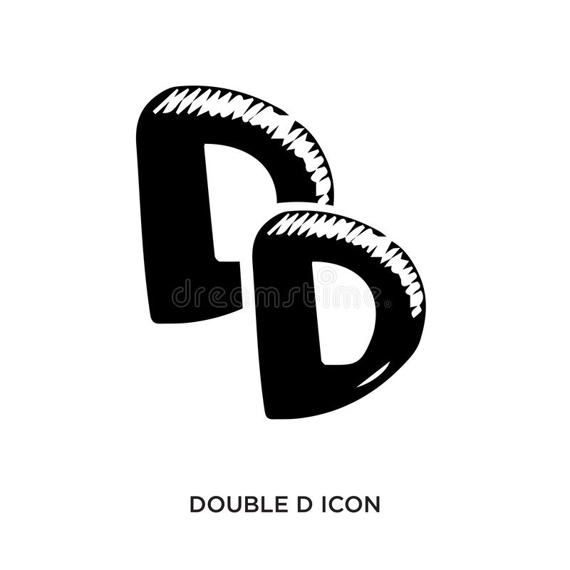 Double d icon. Isolated on white background,flat vector illustration can be used for web, mobile and print vector illustration
