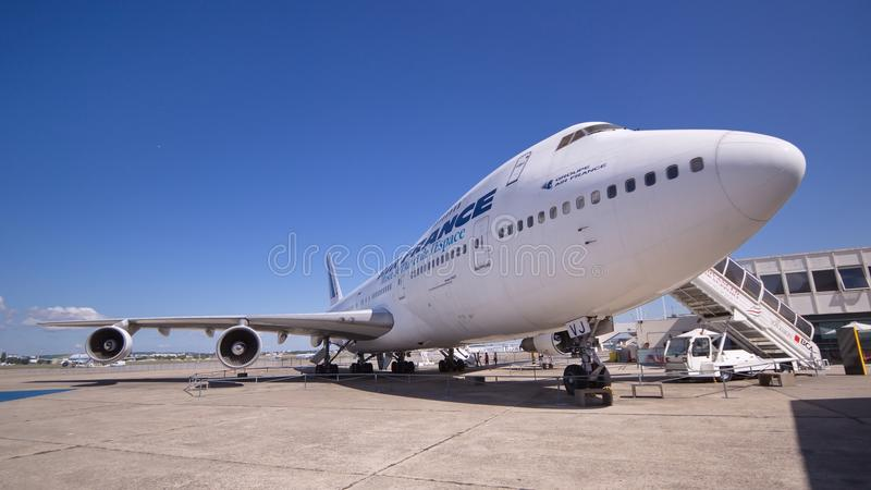 The double-deck Boeing 747, the world's second largest passenger commercial airplane royalty free stock photos