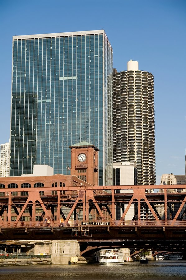 Download Double decker bridge stock image. Image of chicago, tall - 3413703