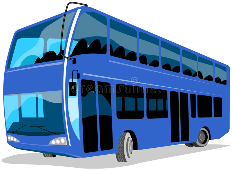 Download Double decker bus stock vector. Image of tire, transportation - 4435051